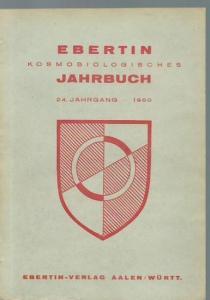 Ebertin, Reinhold (Herausgeber): Kosmobiologisches Jahrbuch 1950.