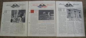 4°. Original booklets. 3 - 4 sheets each with numerous photographs and illustrations. Clean and well preserved. --- Originalhefte mit je 3 - 4 Blatt, reich einfarbig bebildert. Gut erhalten.