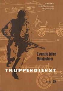 Arbeitsgemeinschaft Truppendienst (Hrsg.) / Anton Bernscherer, Major Ing. (Red.): Zwanzig Jahre Bundesheer. (Truppendienst, 1975 Heft 5. Zeitschrift für die Ausbildung im Bundesheer).