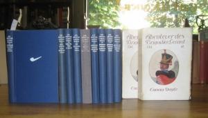 8°. Neun blaue Original-Leinenbände mit weißen Rückentiteln. Ca. 185 - 240 Seiten pro Band. Einige Textabbildungen. Die Bände außen und innen sauber und fest. Dezenter Tabakgeruch. Guter Zustand (siehe auch Anmerkungen).