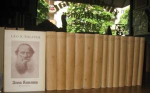 Tolstoj, Leo N. (Leo N. Tolstoi) - August Scholz (Hrsg.), René Fülör-Miller, Friedrich Eckstein (Hrsg. Bd. 14): Leo N. Tolstoi- Ausgabe (Gesammelte Werke). Komplett mit 14 Bänden (1. und 2. Reihe). Erste Reihe (in 7 Büchern): Anna Karenina. Roman in 2 ...