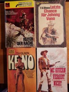 Olsen, T.V.: Konvolut mit 4 TB: 1.Keno. 2.Reiter der Rache. 3.Letzte Chance für Johnny Vano. 4. Mc. Givern vergibt nicht.