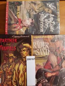 Stewart, Logan: Konvolut mit 3 Hardcover Lockender Western: 1. Am Ende der Schienen. 2.Räder im Sand. 3.Partner des Teufels.