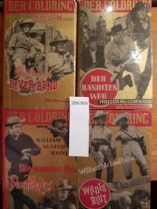 McLeod Raine, William: Konvolut mit 4 Hardcovern: 1. Wildes Blut. 2. Sie nannten ihn Blue Blazes. 3. Der Banditenweg. 4. Großranch River Bend.