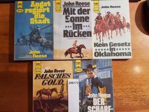 Reese, John: Konvolut mit 5 TB: 1.Der Scharfschütze. 2. Falsches Gold. 3.Kein Gesetz in Oklahoma. 4. Mit der Sonne im Rücken. 5.Angst regiert die Stadt.
