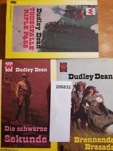 Dean, Dudley: Konvolut mit 3 TB: 1.Todesfalle Rifle Pass. 2.Brennende Brasada. 3.Die schwarze Sekunde.