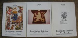 Heraldischer Arbeitskreis bei der Sudetendeutschen Akademie der Wissenschaften und Künste, München (Mithrsg.): Heraldischer Kalender. 3 Jahrgänge: 1986, 1987, 1988.