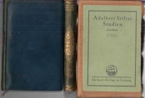 Stifter, Adalbert. - Johannes Schlaf ( Hrsg.): Studien. Komplett in 2 Bänden.