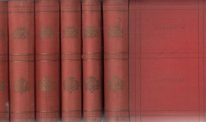Casanova, Giacomo (Chevalier von Seingalt): Memoiren. Komplett in 6 Bänden. 0