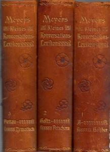 Konversationslexikon - Bibliographisches Institut: Meyers Kleines Konversations-Lexikon. Komplett in 3 Bänden.