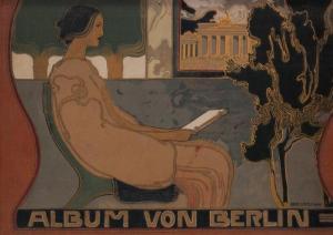 Berlin.- Album von Berlin - Charlottenburg und Potsdam. 5 grosse Panoramen, darunter ein farbiges, und 124 Ansichten nach Naturaufnahmen in Photographiedruck.