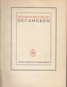 Boccaccio, Giovanni - Klabund (Bearb.) - Lucian Zabel (Illustr.): Decameron ( Dekameron, Decamerone ). Komplett in 2 Bänden.