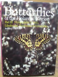 D´Abrera, Bernard: Butterflies of the Holarctic Region. Part III Nymphalidae (concl.), Libytheidae, Riodinidae & Lycaenidae.