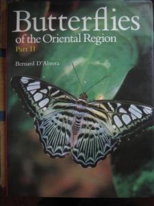 D´Abrera, Bernard: Butterflies of the Oriental Region. Part II Nymphalidae, Satyridae & Amathusidae.