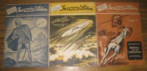 Ins neue Leben. - Ins neue Leben. Jahrgang V, 1950, No. 5, 6 und 8. Konvolut mit 3 Heften. Zeitschrift für Jungen und Mädchen.