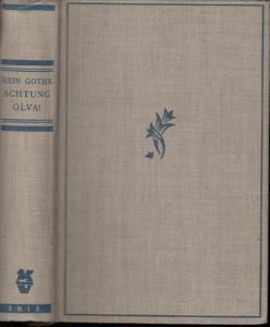 19 x 13,5 cm. Helles Original-Leinen mit blau geprägtem Rückentitel, Kopf-Blauschnitt und Lesebändchen. Leicht angestaubt und an Rücken und Ecken minimal bestoßen. 287 Seiten. In sauberem, ordentlichen Zustand.
