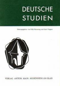 Flemming, Willi /Hrsg. Deutsche Studien. Herausgegeben von Willi Flemming und Kurt Wagner. Verzeichnis und Inhaltsangaben zu den Bänden 1 - 13, 1961 -1970.