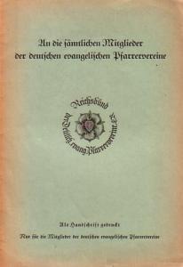 Klingler: An die sämtlichen Mitglieder der deutschen evangelischen Pfarrervereine. Als Handschrift gedruckt.
