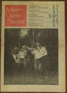 Maxim Gorki Theater: Maxim Gorki Theater. Herausgeber: Albert Hetterle. Spielzeit 1976 / 1977 (Gorki -Nachtasyl, Strahl - Arno Prinz von Wolkenstein, v. Horvath - Kasimir und Karoline u.a.)