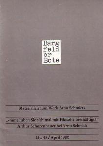 Bargfelder Bote. - Schmidt, Arno. - Drews, Jörg (Hrsg.): Bargfelder Bote. Lieferung 45 / April 1980. Materialien zum Werk Arno Schmidts.