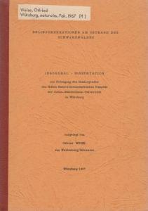 Weise, Otfried: Reliefgenerationen am Ostrand des Schwarzwaldes (= Würzburger geographische Arbeiten, Heft 21).