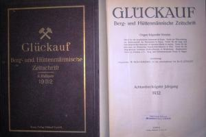 Glückauf. - Beeckmann; Jüngst (Redaktion): Glückauf. Berg- und Hüttenmännische Wochenschrift. 68. Jahrgang 1932. Kompletter Jahrgang in I. und II. Halbjahresband.