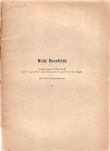Beerfelde. - Erläuterungen zur Geologischen Karte von Preußen und benachbarten Bundesstaaten. Blatt Beerfeld. Lieferung 26. Gradabteilung 45, No 35.