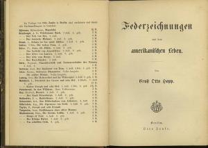 Hopp, Ernst Otto: Federzeichnungen aus dem amerikanischen Leben.