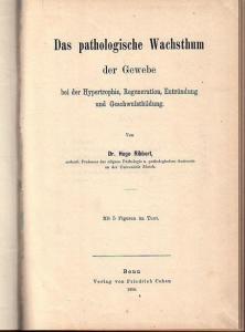 Ribbert, Hugo: Das pathologische Wachsthum der Gewebe bei der Hypertrophie, Regeneration, Entzündung und Geschwulstbildung.