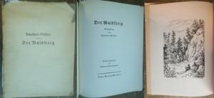 Hörschelmann, Rolf von (Federzeichnungen) / Stifter, Adalbert: Der Waldsteig. Erzählung. Mit den Federzeichnungen von Rolf von Hörschelmann.
