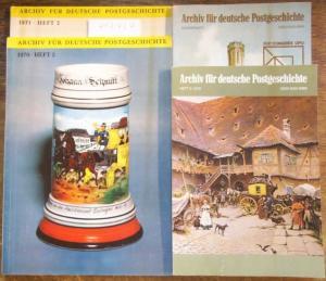 Deutsche Post. - Archiv für Deutsche Postgeschichte. Konvolut mit 22 Heften. Enthalten: 1954 - Heft 2. / 1955 - Erstes und zweites Heft. / 1960 - 2. Heft. / 1962 - Nummer 2 / 1969 - No. 2 / 1970 - Hefte 1 und 2 / 1971, 2. Heft. / 1987, Heft 2 / 1972 - ...