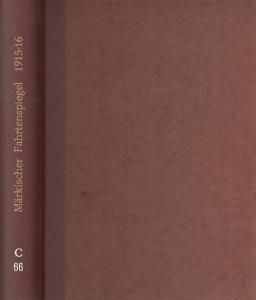 Wandervogel. - Wandervogel. Gaublatt für Brandenburg. Jahr 6, 1915 und Jahr 7, 1916. 2 Jahrgänge in einem Band. ( Märkischer Fahrtenspiegel ).
