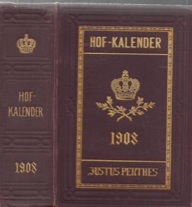 Gotha. - Gothaischer Genealogischer Hofkalender nebst Diplomatisch-statistischem Jahrbuch (ab 1920: Gothaischer Kalender und diplomatisch-statistisches Jahrbuch; ab 1923: Gothaischer Kalender. Genealogischer Hof-Kalender): Gothaischer Genealogischer Hofka