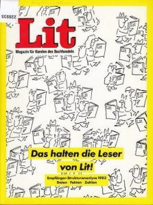 Lit. - Lit. Magazin für Kunden des Buchhandels. Empfänger-Strukturanalyse 1983 - Daten, Fakten, Zahlen. Herausgeber: Börsenverein des Deutschen Buchhandels, Frankfurt / M.
