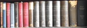 Hildebrand, Bruno (Begründer). - Johannes Conrad (Hrsg.), in Verbindung mit Edg. Loening, W. Lexis, H. Waentig. - Volkswirtschaftliche Chronik. 15 Bände für die Jahre 1898, 1899, 1900, 1901, 1902, 1903, 1904, 1905, 1906, 1907, 1908, 1909, 1910, 1913 un...