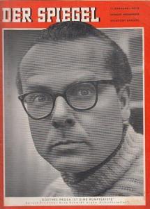 Augstein, Rudolf (Hrsg.) - Hans Detlev Becker, Johannes K. Engel (Red.): Der Spiegel - Das Deutsche Nachrichten-Magazin. 13. Jahrgang, Nr. 20 vom 13. Mai 1959. Titelschlagzeile: Goethes Prosa ist eine Rumpelkiste - Sprach-Schüttler Arno Schmidt.