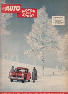Pietsch, Paul, Ernst Troeltsch (Hrsg.) / H.U. Wieselmann (Chefred.): das Auto + Motor und Sport. 29. Jahrgang, Heft Nr. 26 vom 20. Dezember 1952.