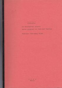 Lansburgh, Werner / Frank-Wolf Matthies. - Redaktion : Hans-Georg Soldat: Exil. Ein Briefwechsel zwischen Werner Lansburgh und Frank-Wolf Matthies. Mit Ansagetext des Rundfunksprechers.