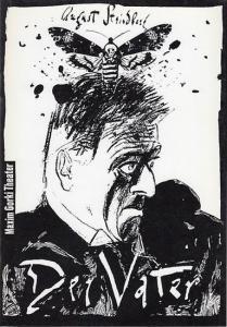 Maxim Gorki Theater Berlin. August Strindberg. Der Vater. Fadren. Trauerspiel. Spielzeit 1994 / 1995. Indentant Bernd Wilms. Regie Martin Meltke. Bühnebild Matthias Kupfernagel. Kostüme Helge Leue. Dramaturgie Manfred Möckel. Musik Ute Falkenau. Darste...