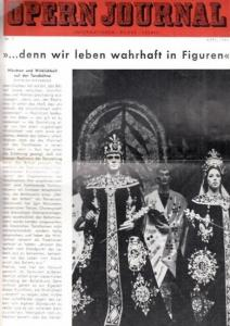 Opern Journal.- Deutsche Oper Berlin. Sellner, Gustav Rudolf (Hrsg.) - Horst Goerges (Textred.) / Wilhelm Reinking (Bildred.): Opernjournal / Das Opern Journal - Nr. 7. April 1964. - Informationen-Bilder-Essays.