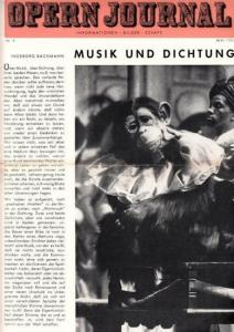 Opern Journal.- Deutsche Oper Berlin. Sellner, Gustav Rudolf (Hrsg.) - Horst Goerges (Textred.) / Wilhelm Reinking (Bildred.): Opernjournal / Das Opern Journal - Nr. 9 Mai 1965. - Informationen-Bilder-Essays.