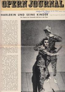 Opern Journal.- Deutsche Oper Berlin. Sellner, Gustav Rudolf (Hrsg.) - Horst Goerges (Textred.) / Wilhelm Reinking (Bildred.): Opernjournal / Das Opern Journal - Nr. 7 März 1966. - Informationen-Bilder-Essays.