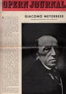 Opern Journal.- Deutsche Oper Berlin. Sellner, Gustav Rudolf (Hrsg.) - Horst Goerges (Textred.) / Wilhelm Reinking (Bildred.): Opernjournal / Das Opern Journal - Nr. 8 April 1966. - Informationen-Bilder-Essays.