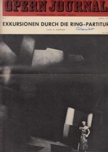 Opern Journal.- Deutsche Oper Berlin. Sellner, Gustav Rudolf (Hrsg.) - Horst Goerges (Textred.) / Wilhelm Reinking (Bildred.): Opernjournal / Das Opern Journal - Nr. 7 April 1967 - Informationen-Bilder-Essays.