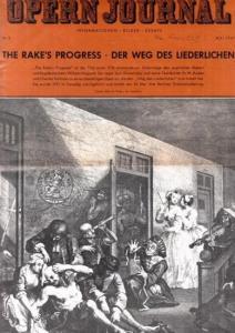 Opern Journal.- Deutsche Oper Berlin. Sellner, Gustav Rudolf (Hrsg.) - Horst Goerges (Textred.) / Wilhelm Reinking (Bildred.): Opernjournal / Das Opern Journal - Nr. 8 Mai 1967 - Informationen-Bilder-Essays.