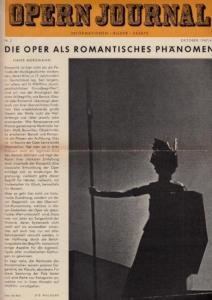 Opern Journal.- Deutsche Oper Berlin. Sellner, Gustav Rudolf (Hrsg.) - Thomas-M. Langner (Textred.) / Wilhelm Reinking (Bildred.): Opernjournal / Das Opern Journal - Nr. 2 Oktober 1967-68 - Informationen-Bilder-Essays.