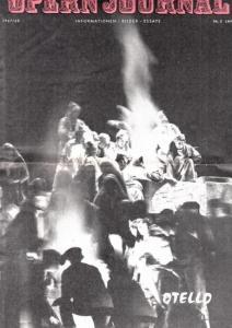 Opern Journal.- Deutsche Oper Berlin. Sellner, Gustav Rudolf (Hrsg.) - Thomas-M. Langner (Textred.) / Wilhelm Reinking (Bildred.): Opernjournal / Das Opern Journal - Spielzeit 1967/68 Nr. 5 Januar - Informationen-Bilder-Essays. Otello.