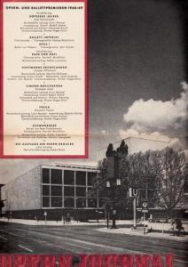 Opern Journal.- Deutsche Oper Berlin. Sellner, Gustav Rudolf (Hrsg.) - Thomas-M. Langner (Textred.) / Wilhelm Reinking (Bildred.): Opernjournal / Das Opern Journal - Spielzeit 1968/69 Nr. 1 August/September - Informationen-Bilder-Essays.
