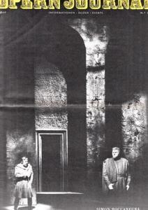 Opern Journal.- Deutsche Oper Berlin. Sellner, Gustav Rudolf (Hrsg.) - Thomas-M. Langner (Textred.) / Wilhelm Reinking (Bildred.): Opernjournal / Das Opern Journal - Spielzeit 1968/69 Nr. 7 März - Informationen-Bilder-Essays.