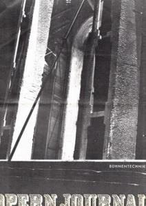 Opern Journal.- Deutsche Oper Berlin. Sellner, Gustav Rudolf (Hrsg.) - Thomas-M. Langner (Textred.) / Wilhelm Reinking (Bildred.): Opernjournal / Das Opern Journal - Spielzeit 1968/69 Nr. 8 April - Informationen-Bilder-Essays. Technik
